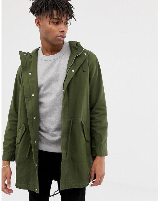 closer at outlet online sale uk Lightweight Parka Jacket In Khaki