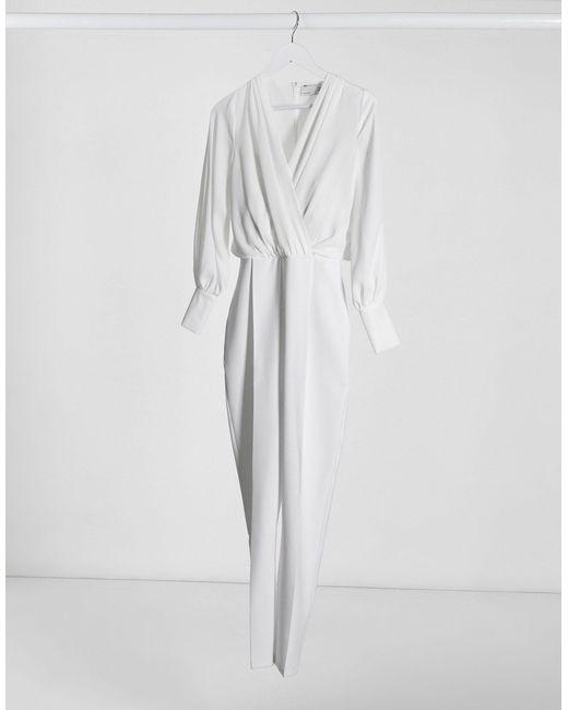 Tuta jumpsuit di ASOS in White