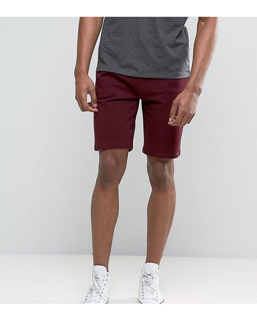 ASOS | Red Tall Jersey Skinny Shorts In Burgundy for Men | Lyst
