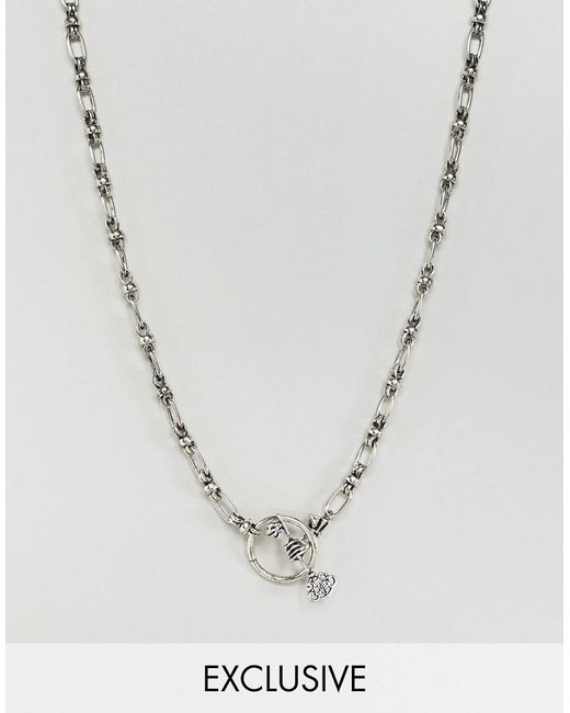 Reclaimed (vintage) - Metallic Inspired Chain Necklace In Silver Exclusive At Asos for Men - Lyst