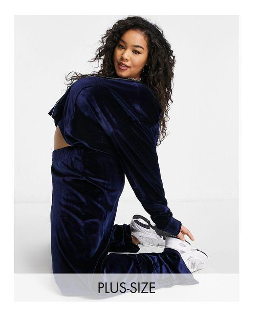 Эксклюзивные Велюровые Штаны От Комплекта Широкого Кроя Темно-синего Цвета -коричневый Цвет Fashionkilla, цвет: Brown