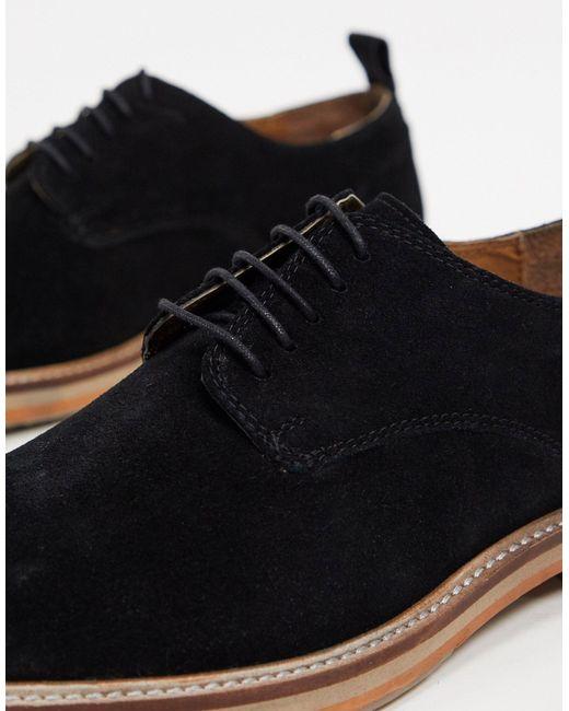 Черные Замшевые Дерби На Массивной Подошве -черный Burton для него, цвет: Multicolor