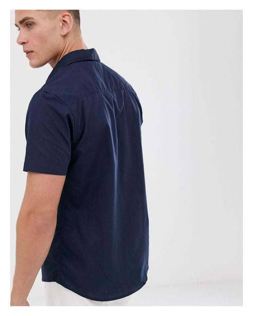Mens Threadbare Short Sleeved Cotton Stripe Summer Shirts