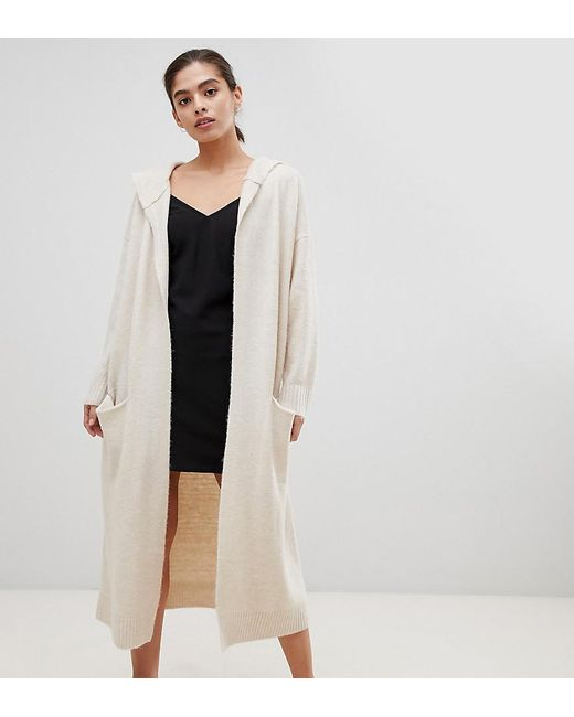 b588072d6c Micha Lounge - Natural Luxe Oversized Longline Cardigan With Hood - Lyst ...