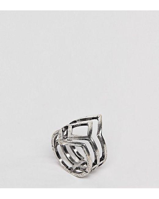 ASOS - Metallic Asos Design Curve Exclusive Cut Out Ring - Lyst