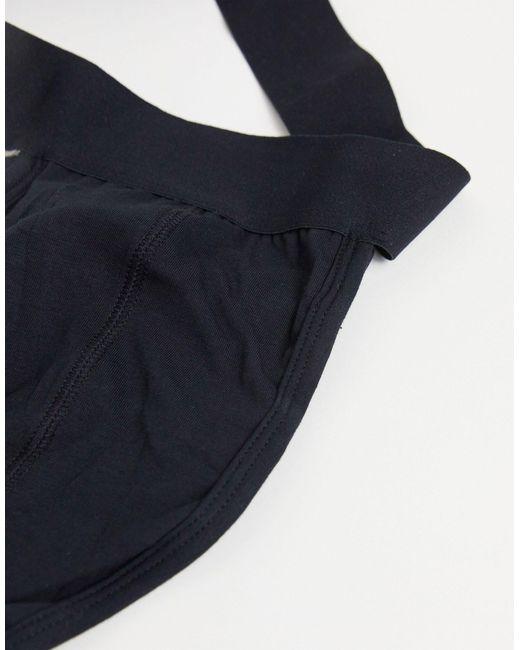 Черные Джоки С Ремешками ASOS для него, цвет: Black