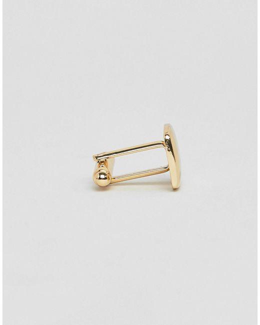 Квадратные Золотистые Запонки ASOS для него, цвет: Multicolor