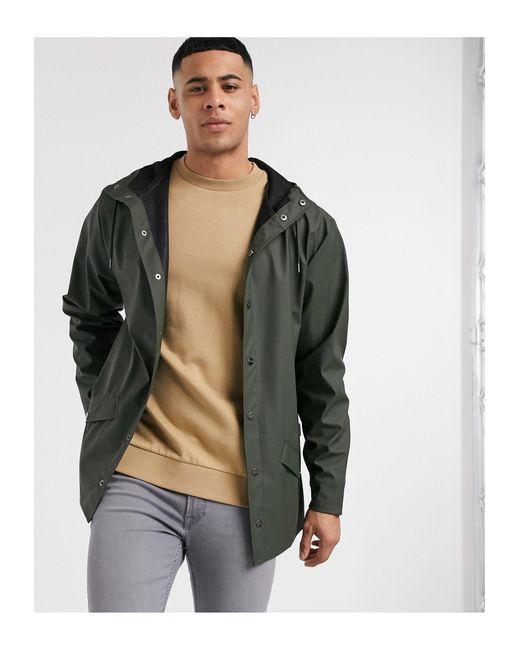 Зеленая Легкая Куртка С Капюшоном -зеленый Цвет Rains для него, цвет: Green