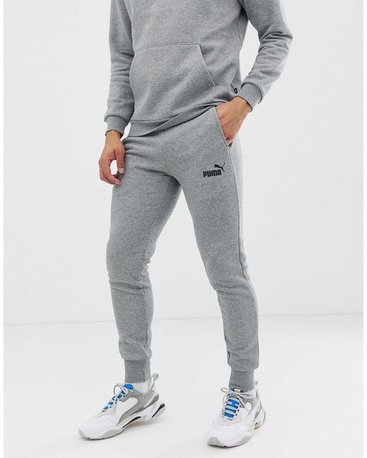 Серые Джоггеры Скинни Essentials-серый PUMA для него, цвет: Gray