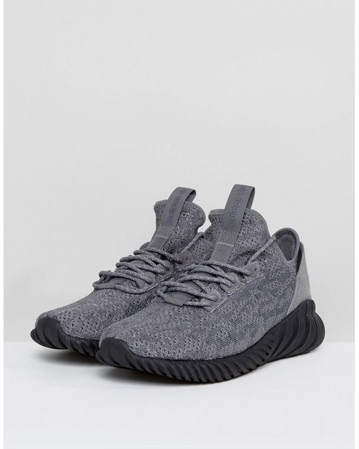 newest collection 56381 4a274 Men's Gray Tubular Doom Sock Primeknit Trainers In Grey By3564