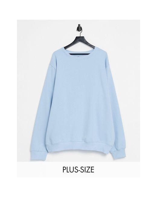 Plus - Sweat-shirt d'ensemble à col ras Threadbare pour homme en coloris Blue
