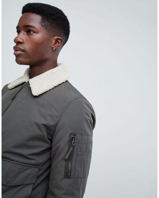Veste en imitation peau New Look pour homme en coloris Green