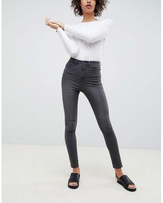 WÅVEN - Gray Anika High Rise Skinny Jeans - Lyst