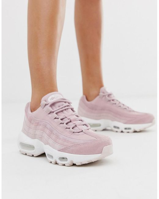 Nike Rubber Air Max 95 Sneakers In Pink Lyst