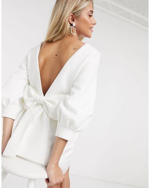 Платье Мини Цвета Слоновой Кости С Бантом На Спине -кремовый Forever New, цвет: White