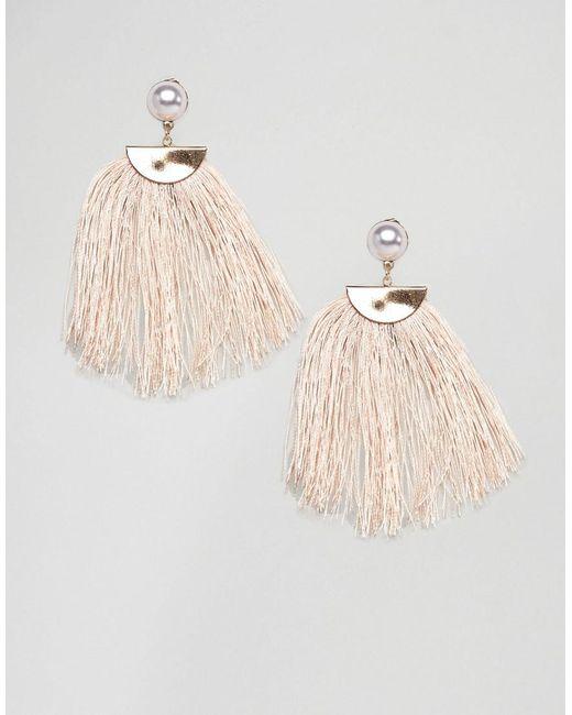 Nylon - Natural Cream Tassel Earrings - Lyst