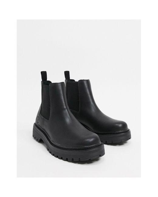Черные Ботинки Челси С Рифленой Подошвой -черный Цвет Pull&Bear для него, цвет: Black