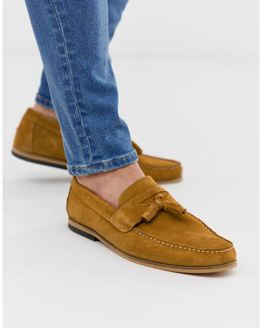 River Island Loafer In Tan-brown for men
