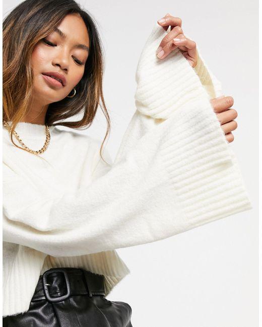 Белый Укороченный Джемпер С Круглым Вырезом AX Paris, цвет: Multicolor