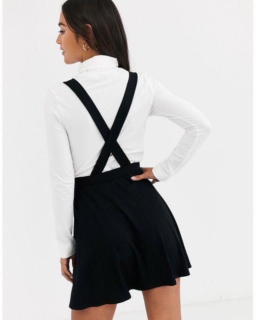 Черная Мини-юбка На Пуговицах ASOS, цвет: Black
