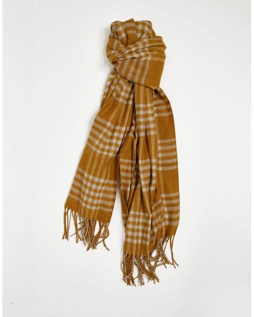 Коричневый Шарф В Клетку С Кисточками -коричневый Цвет Vero Moda, цвет: Brown