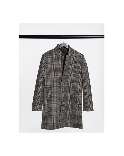 Шерстяное Бежевое Пальто В Клетку -neutral Tom Tailor для него, цвет: Natural