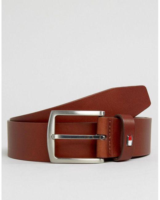 Metal Plaque Leather Belt - Sales Up to -50% Tommy Hilfiger ugLvaD