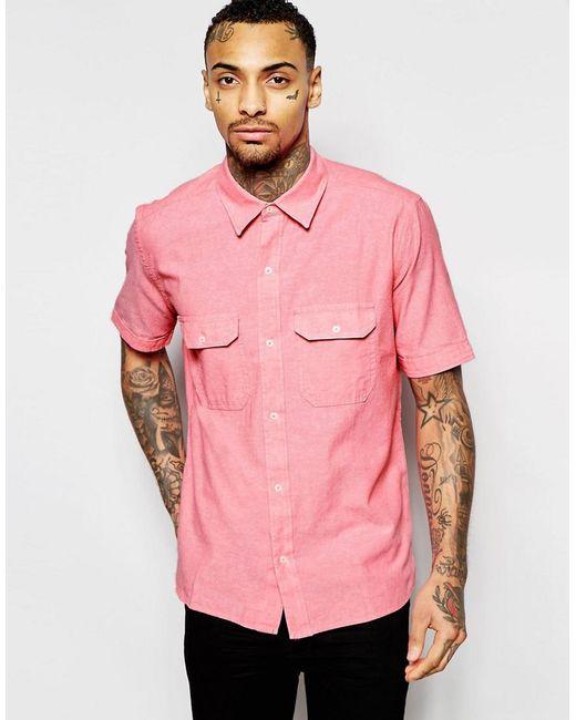 Lyst - American apparel Short Sleeve Chambray Shirt In Regular Fit ...