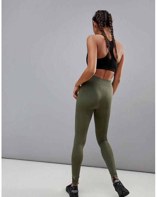 PUMA - Green Evoknit Legging In Olive - Lyst
