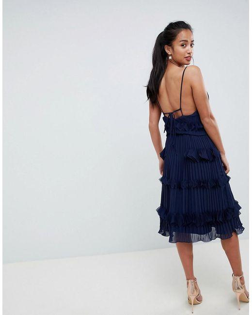 d5bc5df8b True Decadence Premium Pleated Ruffle Skater Dress in Blue - Lyst