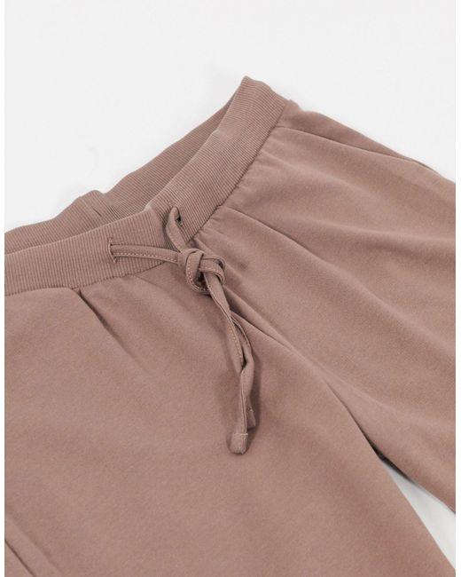 Джоггеры Из Органического Хлопка С Завязкой ASOS, цвет: Brown