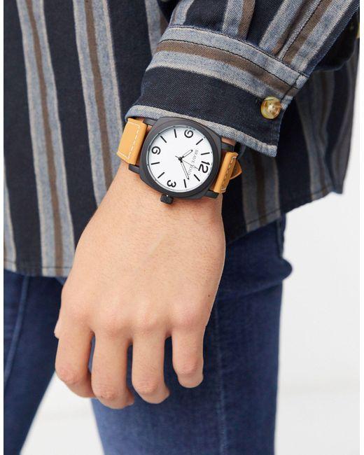 Часы С Коричневым Ремешком И Белым Циферблатом -коричневый Brave Soul для него, цвет: Multicolor