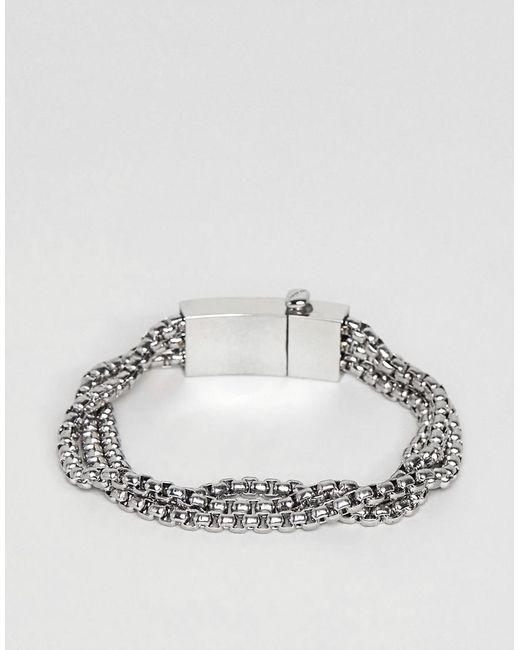 Vitaly - Metallic Triad Bracelet In Stainless Steel for Men - Lyst