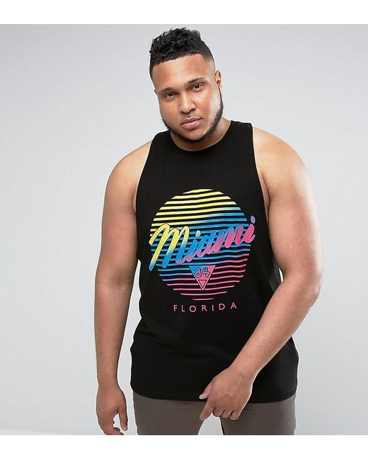 Asos plus longline sleeveless t shirt with racer back for T shirt printing miami fl