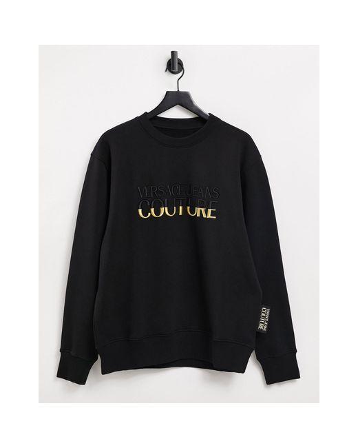 Черный Свитшот С Золотистым Логотипом Couture-черный Цвет Versace Jeans для него, цвет: Black