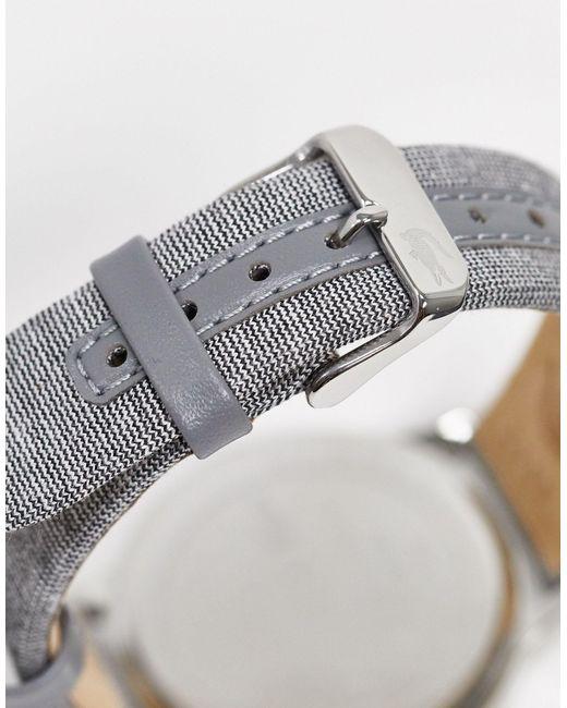Серые Наручные Часы -серый Lacoste для него, цвет: Gray