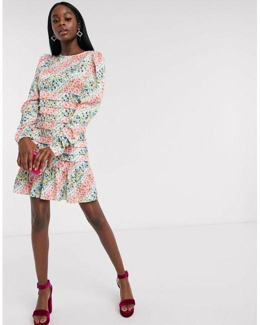 Платье Мни Со Складками И Принтом -мульти Never Fully Dressed, цвет: Multicolor