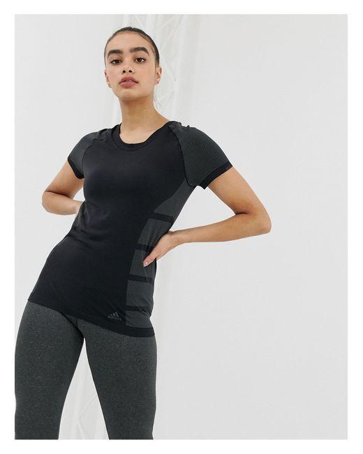 Черная Футболка Primeknit-черный Adidas, цвет: Black
