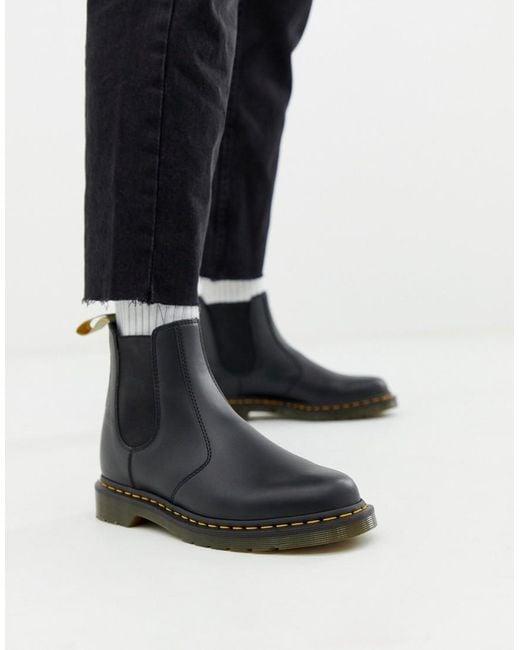 d45cea3fcf1a Dr. Martens - Vegan 2976 Chelsea Boots In Black Smooth for Men - Lyst ...