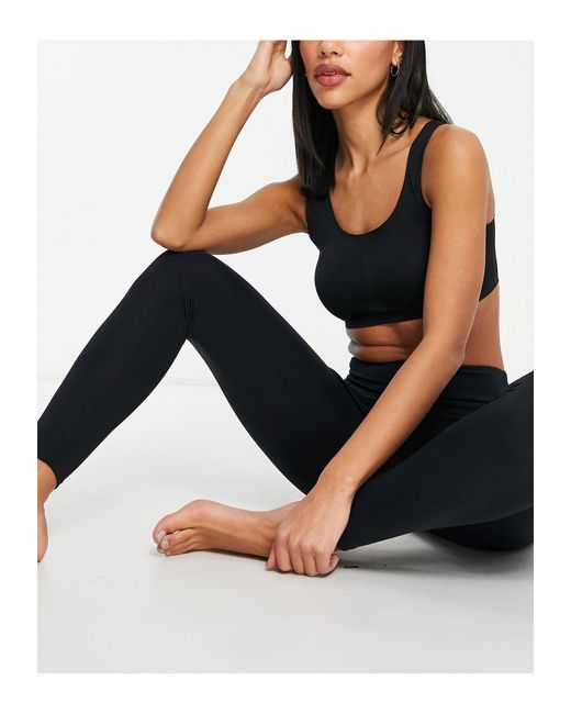 Onzie Black – Yoga-7/8-Leggings mit hohem Bund