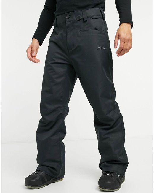 Carbon - Pantaloni da sci neri di Volcom in Black da Uomo