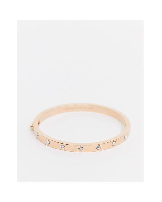 Золотисто-розовый Браслет Со Стразами -золотой Kate Spade, цвет: Metallic