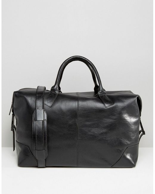 Royal republiq Leather Supreme Carryall Bag In Black in ...
