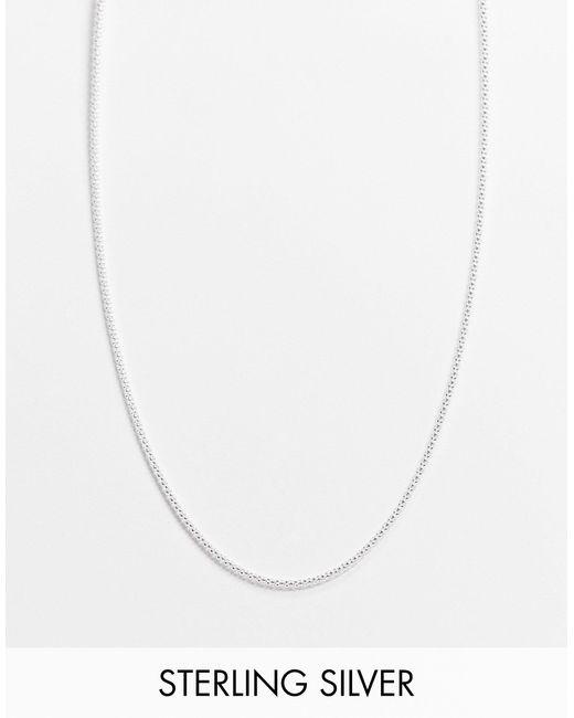 Серебряное Ожерелье-цепочка С Плетением С Круглым Сечением -серебристый Kingsley Ryan, цвет: White