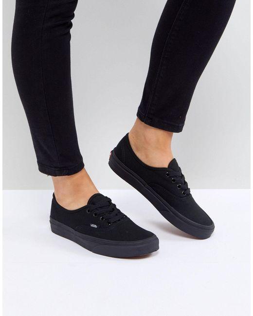 Authentic - Scarpe da ginnastica classiche stringate nere di Vans ...