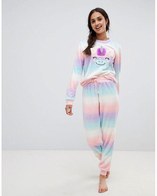Chelsea Peers - Multicolor Unicorn Ombre Pyjama Set - Lyst