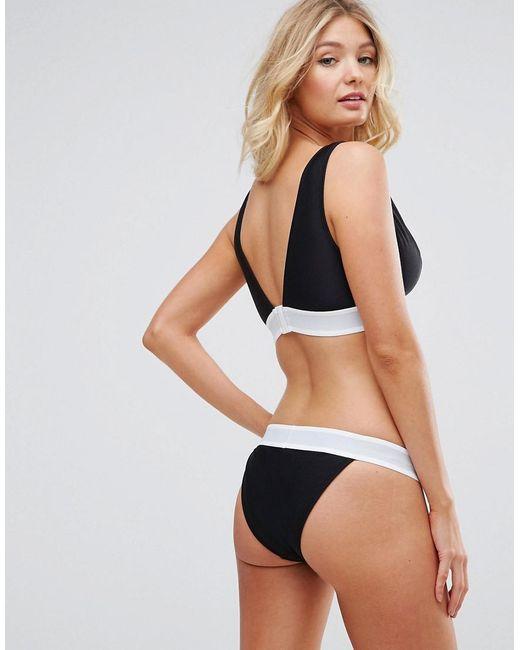 bc86d9b305 ... ASOS - Black Fuller Bust Bridal 'squad' Elastic Slogan Triangle Crop Bikini  Top Dd