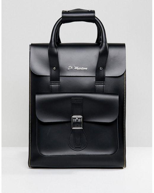 Dr. Martens Black Leather Backpack