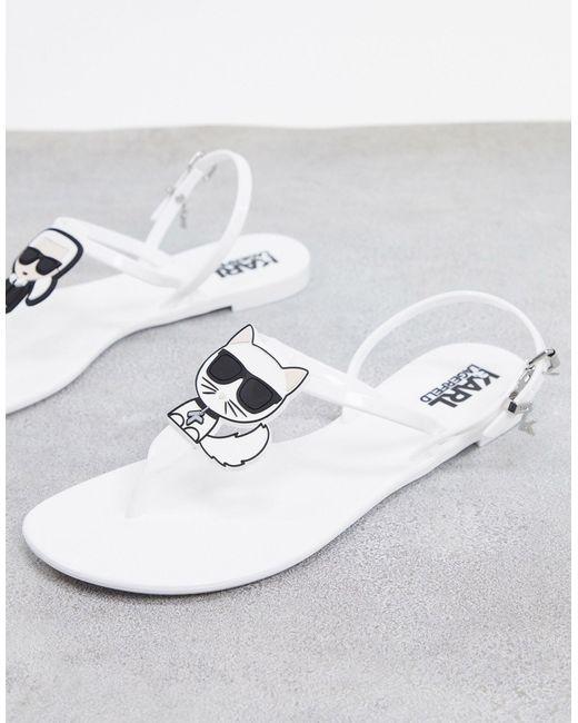 Jelly Karl Ikonik Sandals Karl Lagerfeld de color White