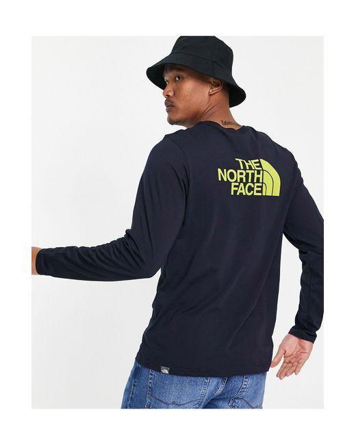 Easy - T-shirt manches longues - Bleu marine The North Face pour homme en coloris Blue